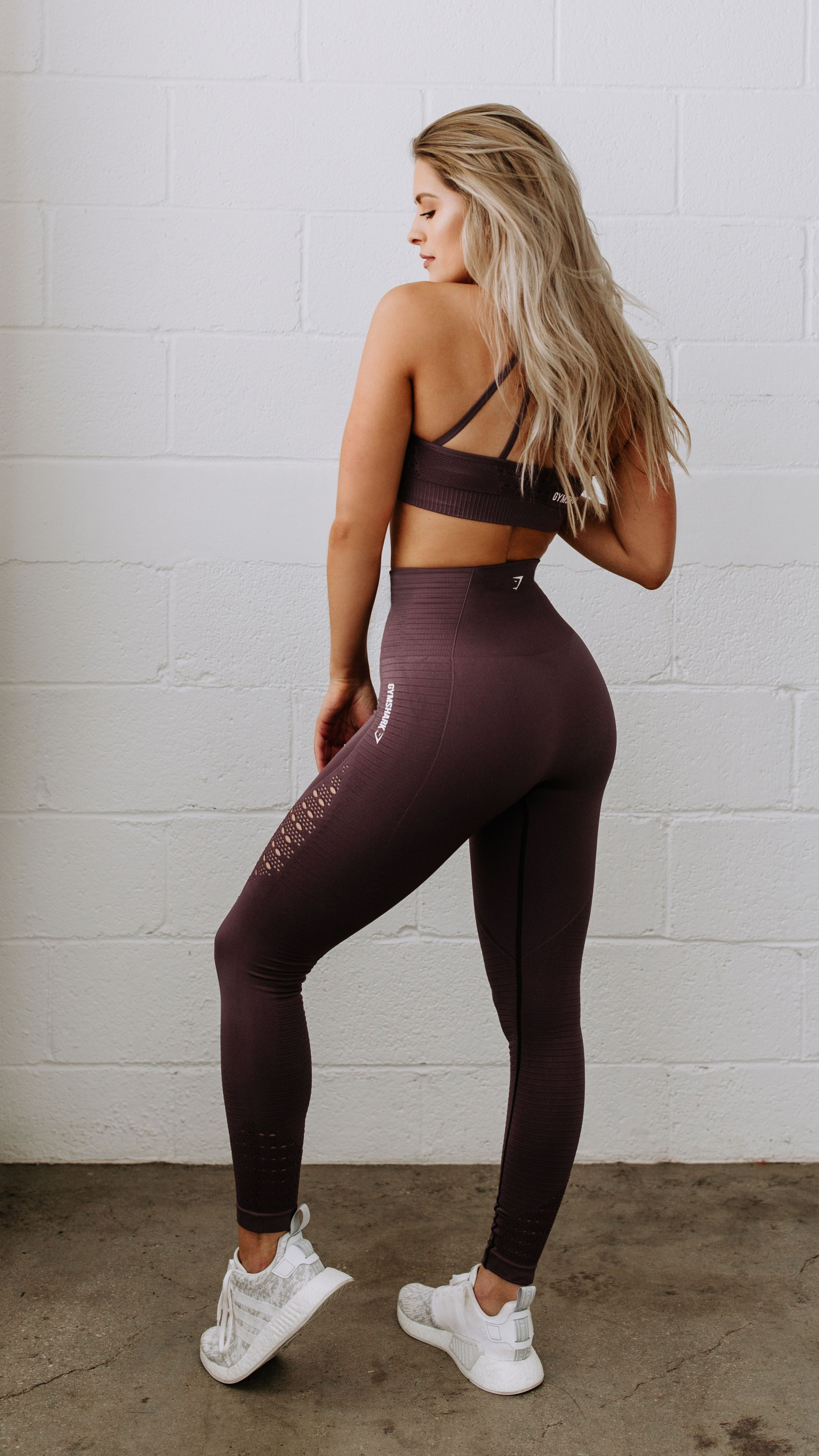 56406cd33d Gymshark Energy Seamless High Waisted Leggings - Purple Wash ...