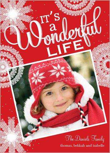 My Fave Holiday Cards Wonderful Life Flurries Holiday Card from