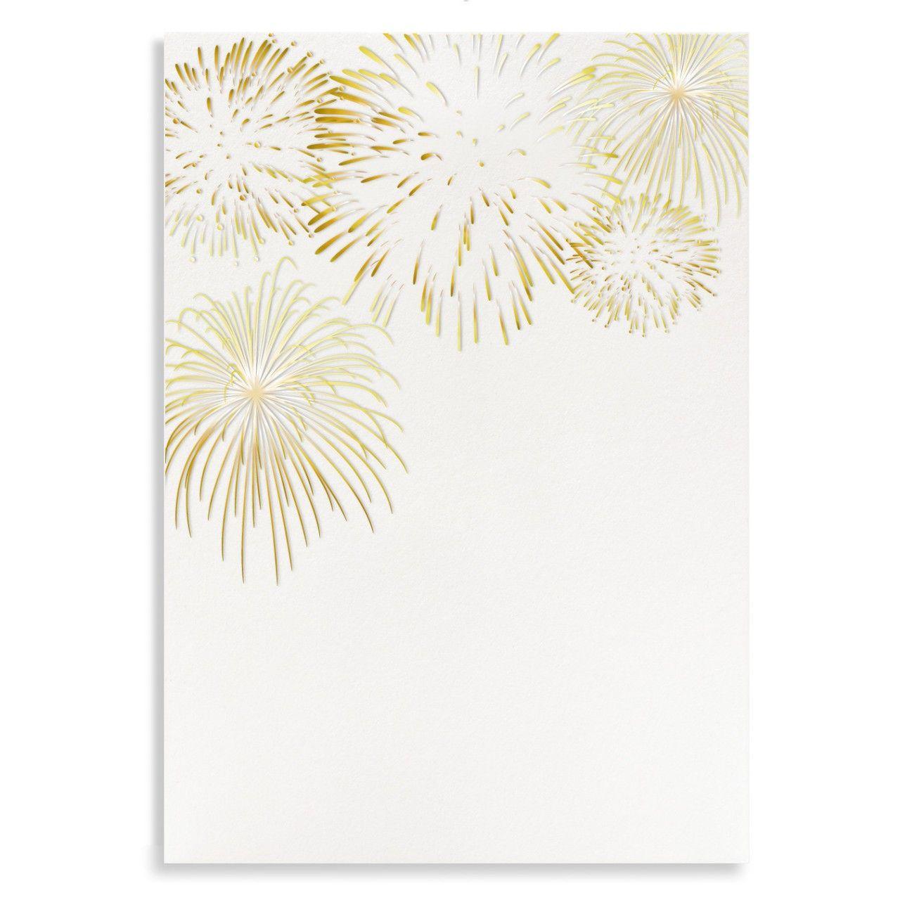 Fireworks Custom Letterpress Wedding Menu
