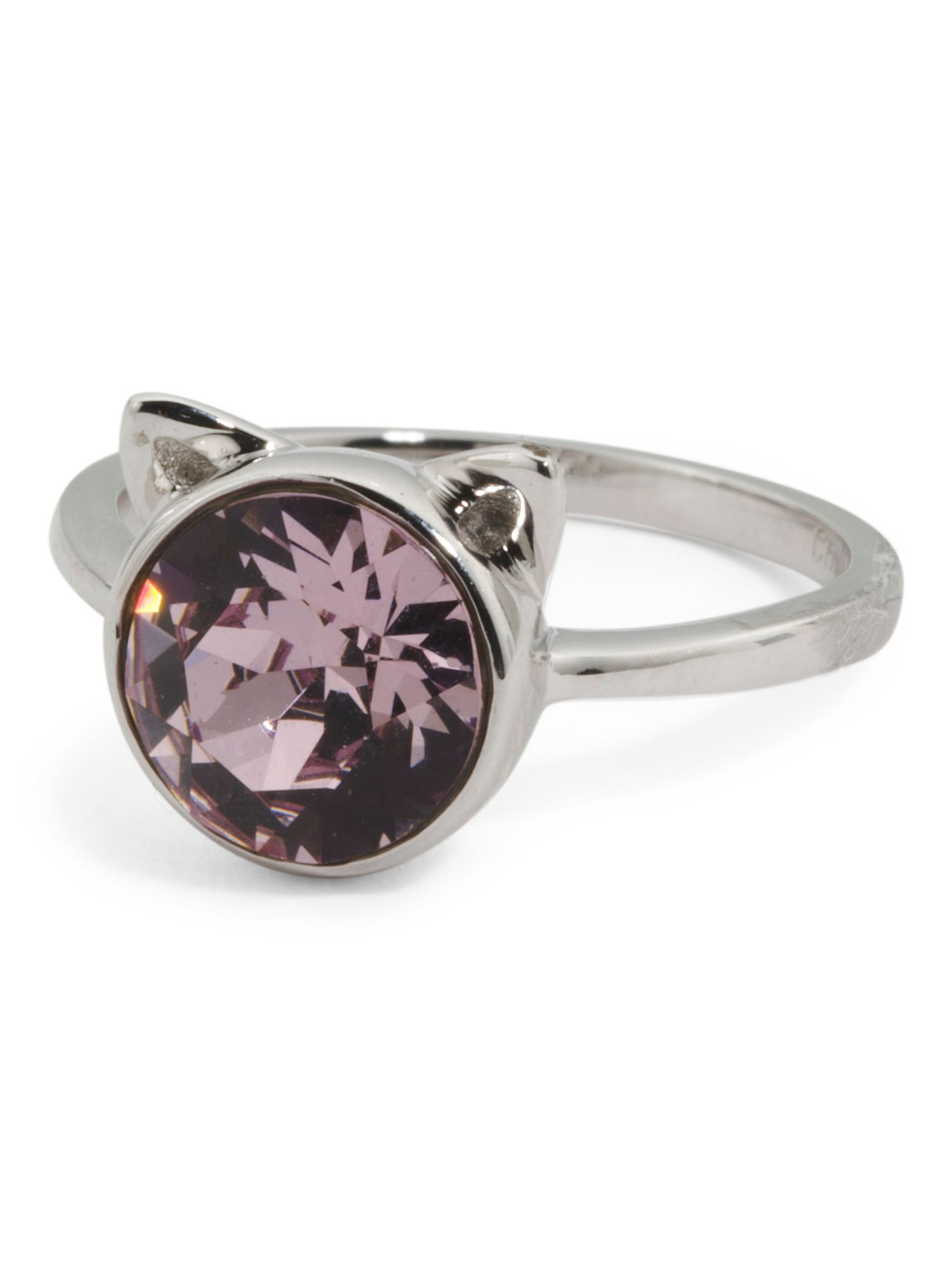 ee166155ec99b Sterling Silver Swarovski Crystal Cat Ears Ring | Products | Jewelry ...