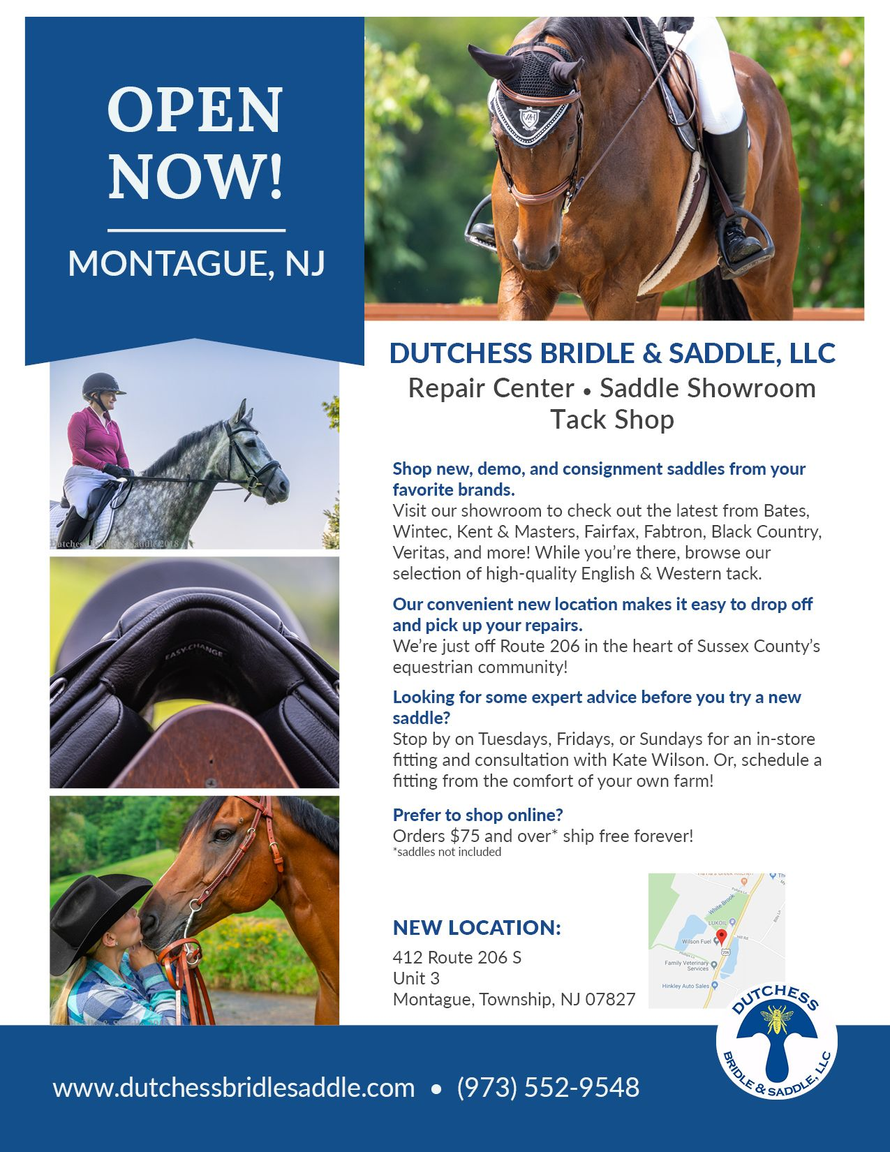 Dutchess Bridle & Saddle is now OPEN  We offer new & used