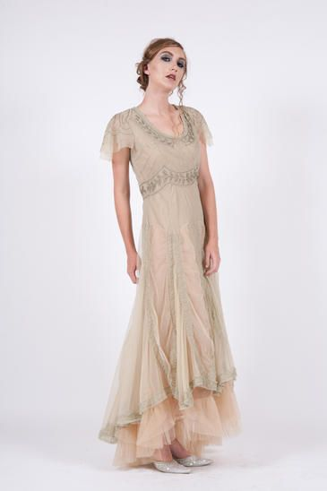 40159 Sage Nataya Lady Of The Forest Dress- Plus sizes too | Downton ...