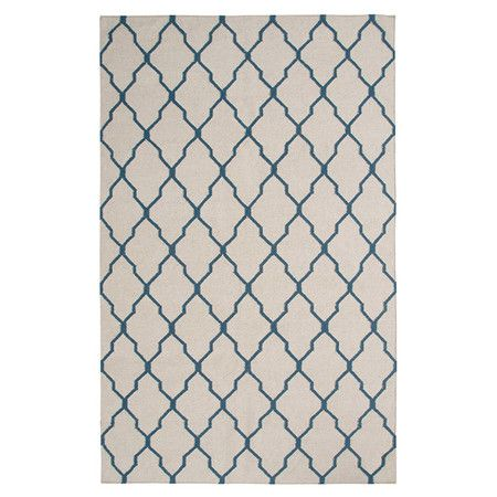 New Zealand wool rug with a Moroccan tile motif. Hand-woven in India.   Product: RugConstruction Material: 100% New Ze...