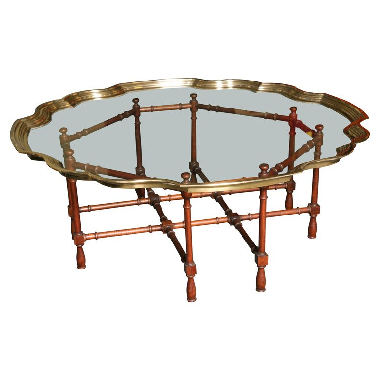 View This Item And Discover Similar Coffee And Cocktail Tables For Sale At    SOLD MARCH Fine U0026 Elegant Molded Brass And Glass Coffee Table With A ...