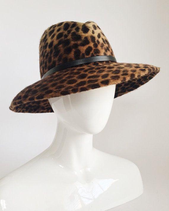 8b15672217d8 Leopard Animal Print Fur Felt Women's Fedora / by UnaHats #womenhatsclassy