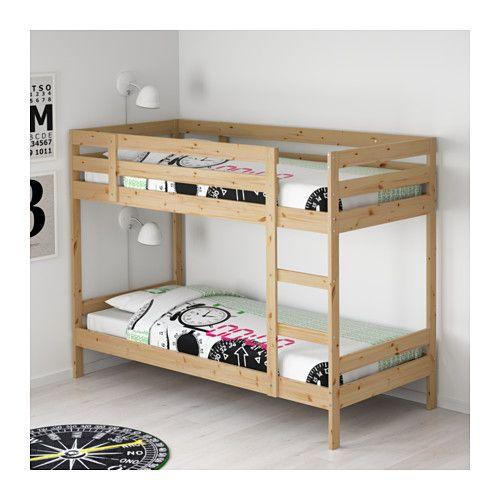Mydal Bunk Bed Frame Pine Twin Ikea Diy Bunk Bed Bunk Bed Designs Ikea Bunk Bed