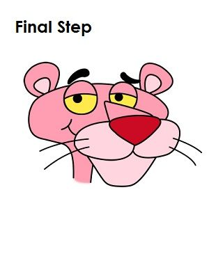 how to draw pink panther final step