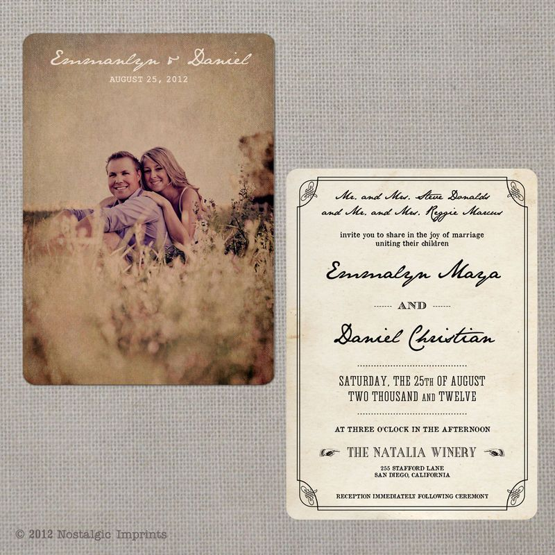 Vintage Wedding Invitation, These Are Cute And Cost The