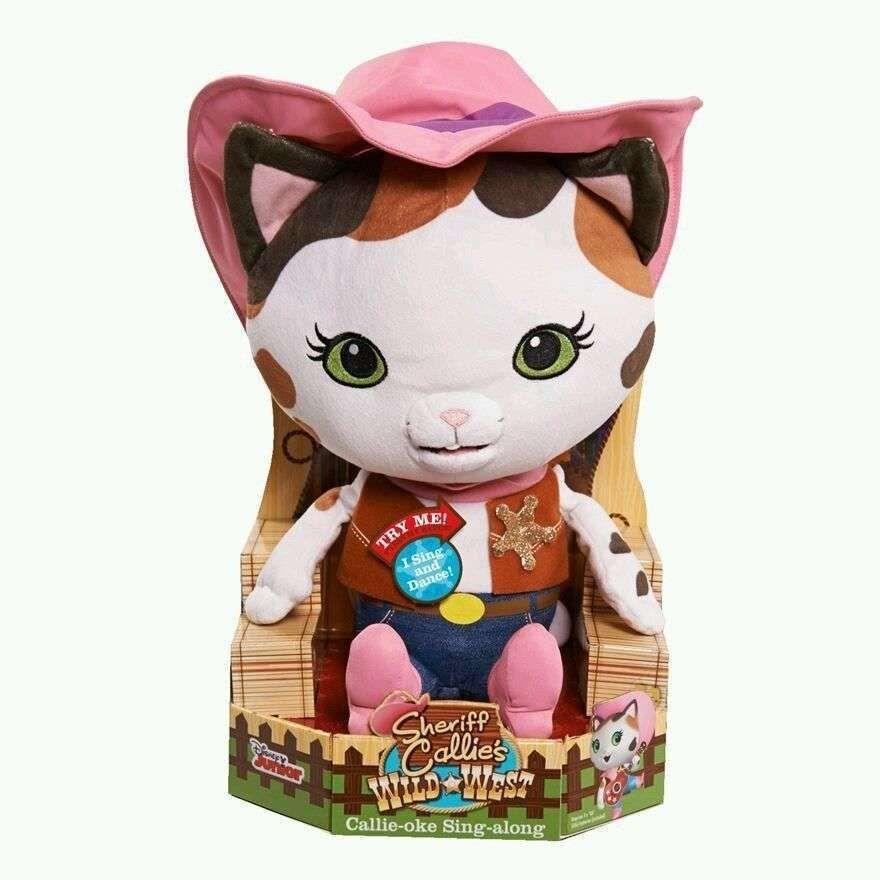 Disney Junior NEW Sheriff Callie's Wild West Callie Oke Sing Along Plush Toy