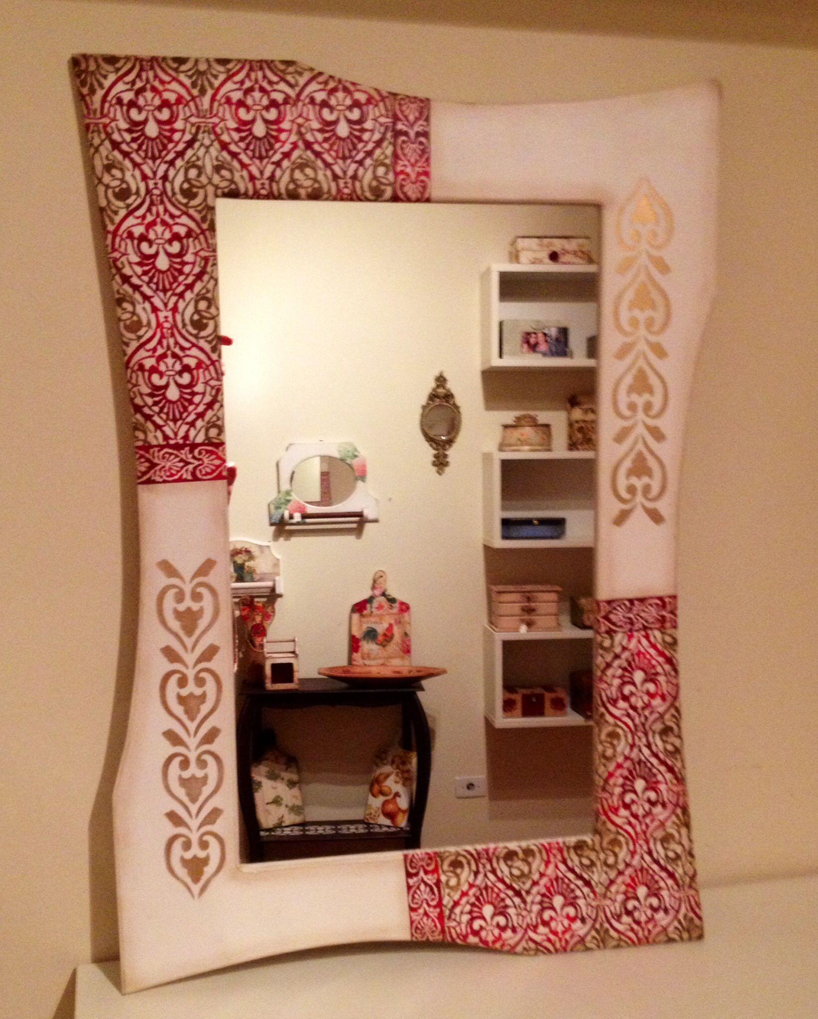 espejos reciclados espejos decorados muebles pintados siluetas vendimia maricela velas pinturas hogar