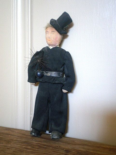 Antique Handmade Doll Soldier Man Chimney Sweep By Veraseravintage Dolls Handmade Doll Clothes Trending Outfits