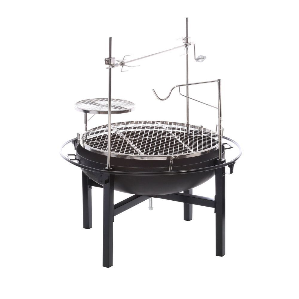 RiverGrille Cowboy 31 in. Charcoal Grill and Fire Pit ...