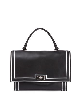 Shark Medium Painted-Stripe Satchel Bag, Black by Givenchy at Neiman Marcus.