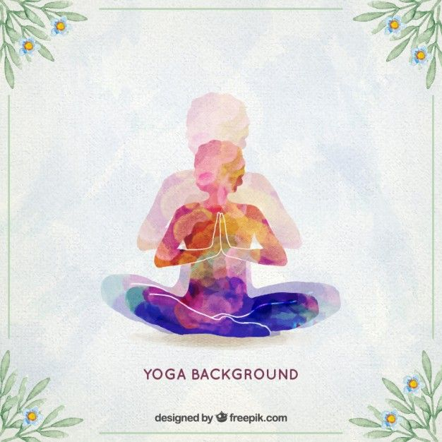 Download Watercolor Yoga Background For Free Happy Yoga Day World Yoga Day Yoga Day