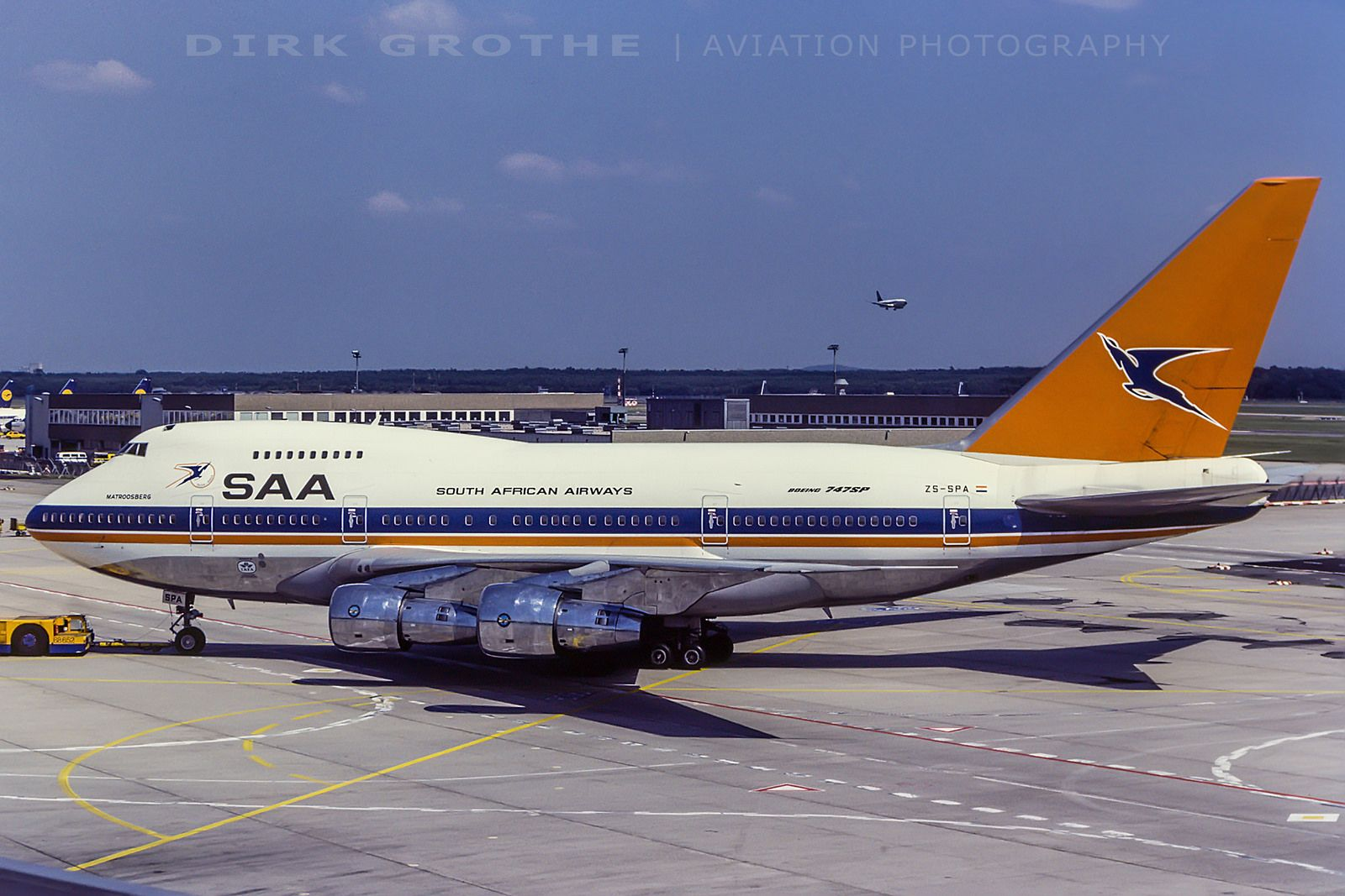 Saa B747sp Zs Spa 19840701 Fra Boeing Aircraft South African Airways Passenger Aircraft
