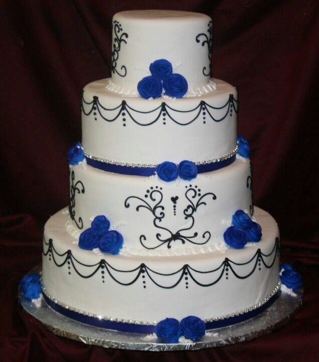 Royal Blue wedding cake Keywords: #royalblueweddings # ...