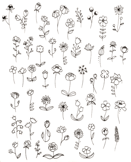 Best Tattoo Designs Sketches Drawings Hand Drawn 26 Ideas Tattoo In 2020 Simple Flower Drawing Flower Doodles Floral Drawing