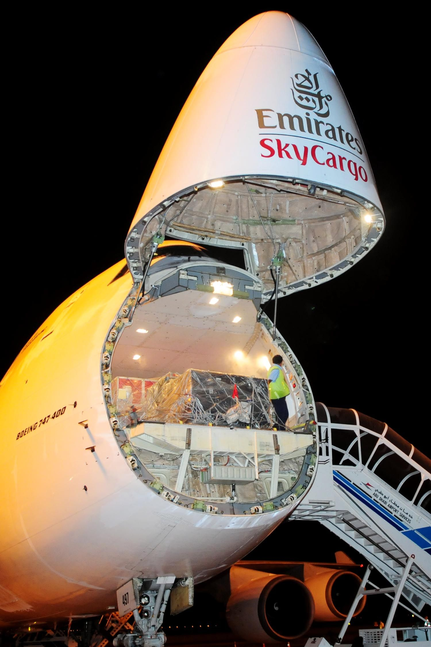 Emirates SkyCargo Boeing 747 freighter Rotor