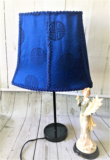 One Of A Kind Gorgeous Lapis Lazuli Blue Rectangle Shaped Lampshade