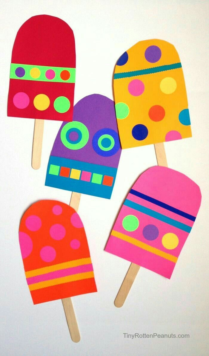 Pin By Emilia San On Paper Craft Popsicle Crafts Summer Crafts