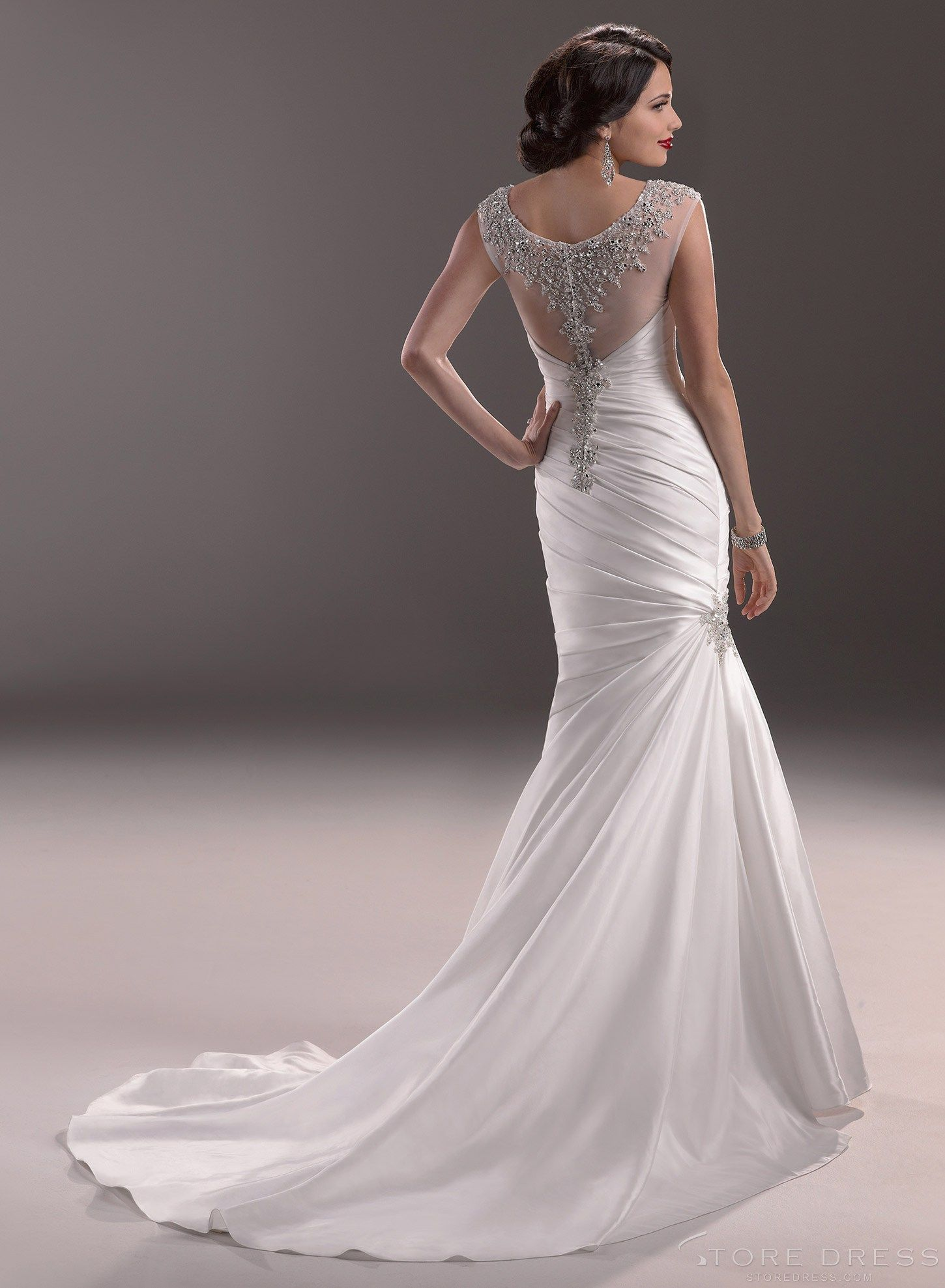 Trumpet Wedding Dress Throughout Style Thesonomahouse