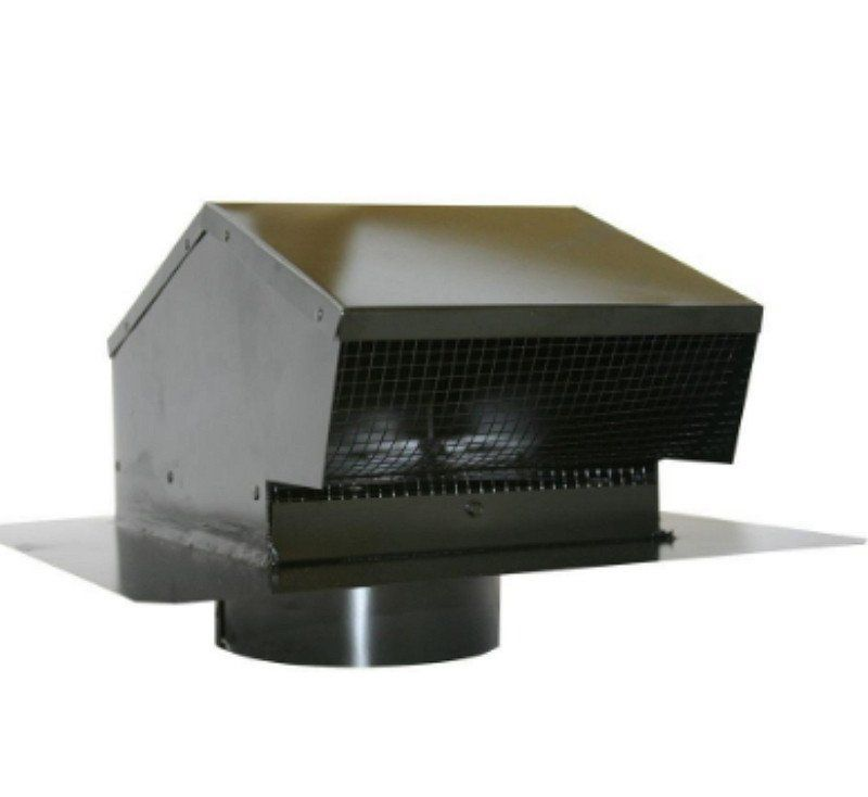 6 Inch Galvanized Flush Roof Cap Removable Screen With 6 Inch Collar Black Roof Cap Galvanized Roofing Air Conditioner Accessories
