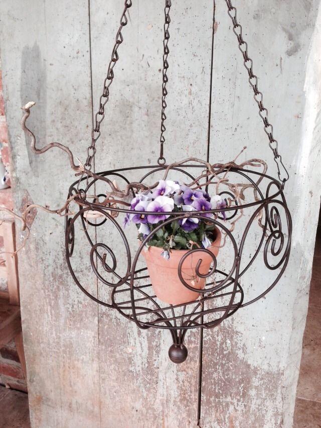 Hängekorb Blumenampel Obstkorb Eisen Dunkelrostfarben (L) | For the ...