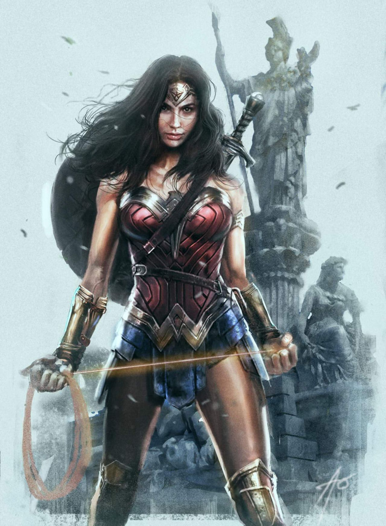Wonder Woman Amazon Princess Rudy Ao Wonder Woman Art Wonder Woman Gal Gadot Wonder Woman
