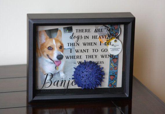 Pet Memorial Shadow Box Dog