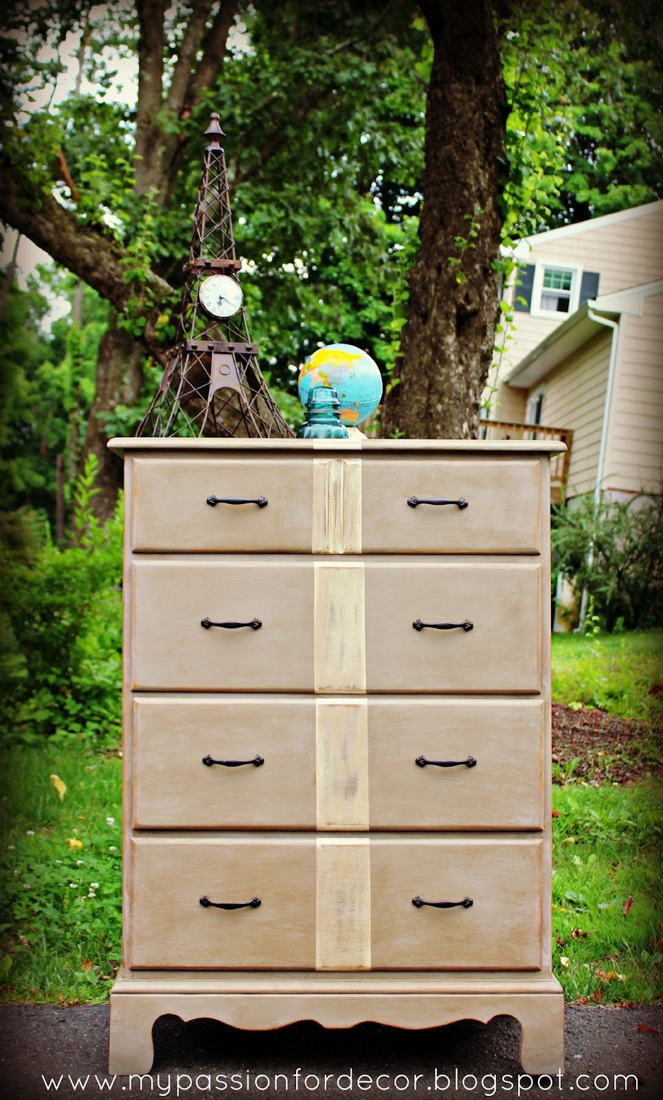 My Passion For Decor: Feeling Stripey...A Dresser For Dylan