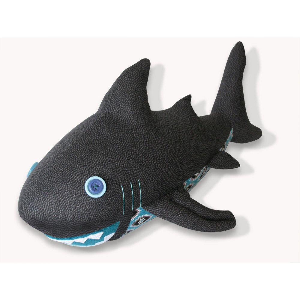 Giant Stuffed Shark shark plush toy pattern pdffunkyfriendsfactory on etsy