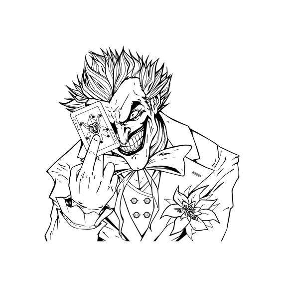 Joker Svg Joker Silhouette Dc Svg Clown Svg Villain Svg Etsy In 2020 Batman Coloring Pages Avengers Coloring Pages Superhero Coloring