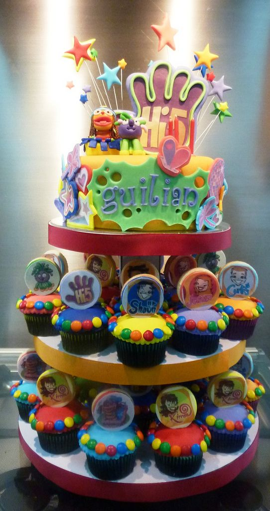 Hi 5 Cupcake Tower Third Birthday 5th Party Ideas Decorations
