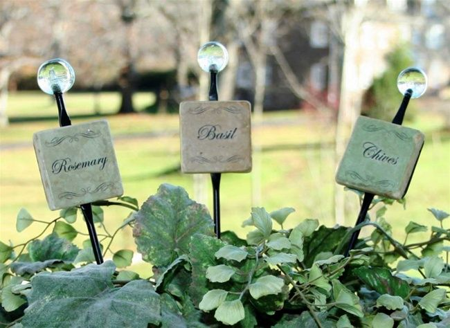 vegetable garden markers decorative Google Search gardens
