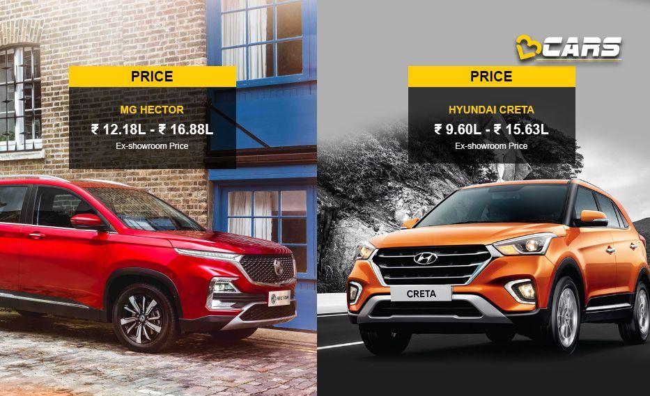 Mg Hector Vs Hyundai Creta Price Specs Comparison Hyundai Hector Infotainment