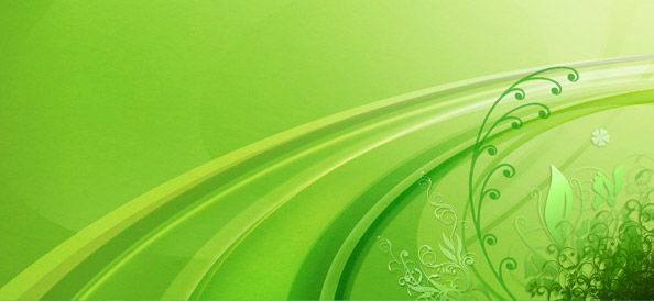 Abstract Green Background With Floral Elements Green Backgrounds
