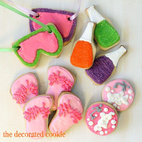 SPA COOKIES For A Spa And Beauty-themed Birthday Party