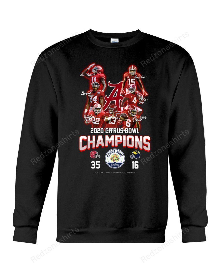 2020 Citrus Bowl Champions Alabama Crimson Tide Sweatshirt Redzoneshirts Champion Sweatshirt Sweatshirts Sweatshirt Shirt [ 1125 x 900 Pixel ]