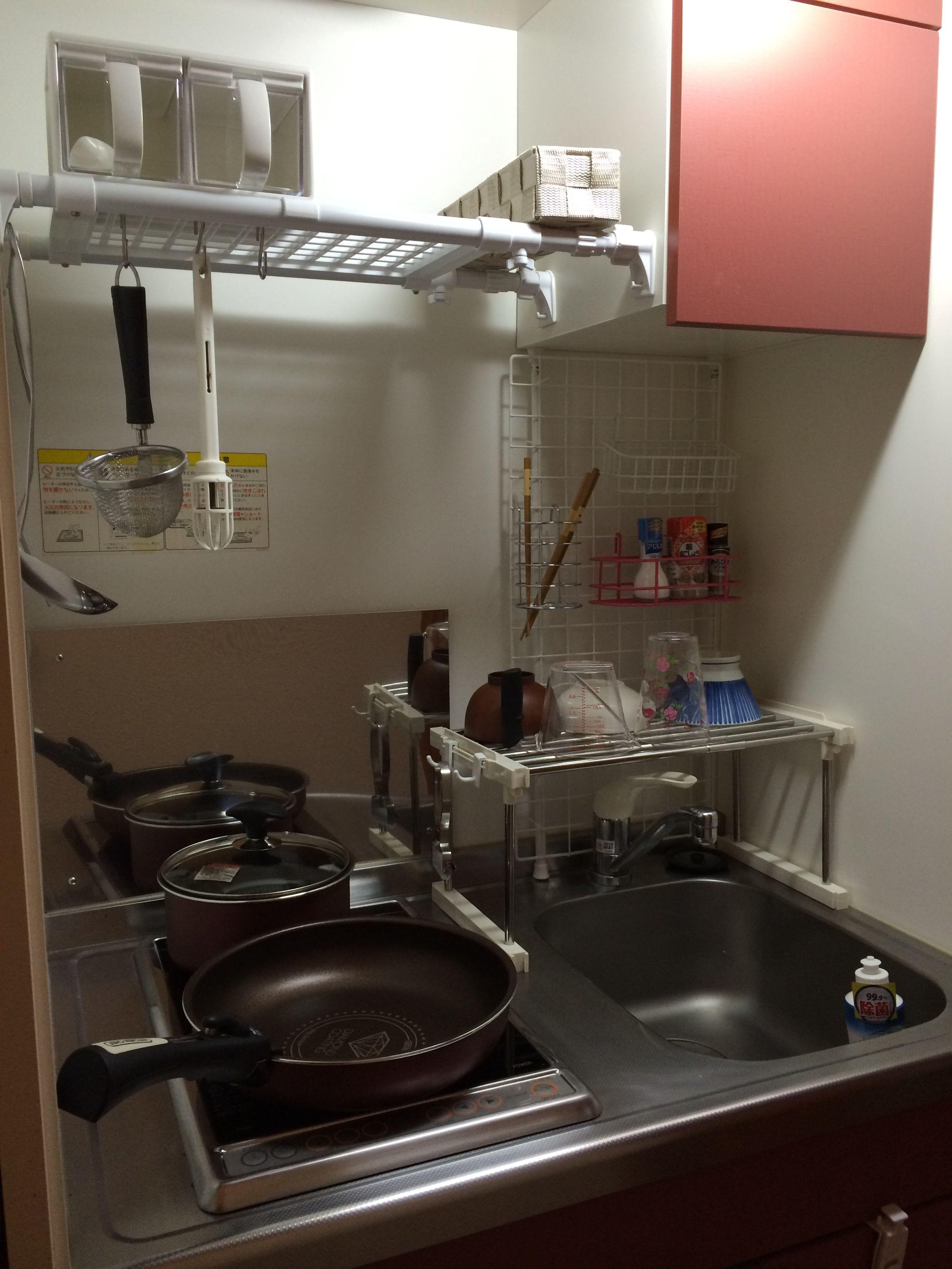 キッチン レオパレス 狭いキッチン レイアウト 狭いキッチン 収納