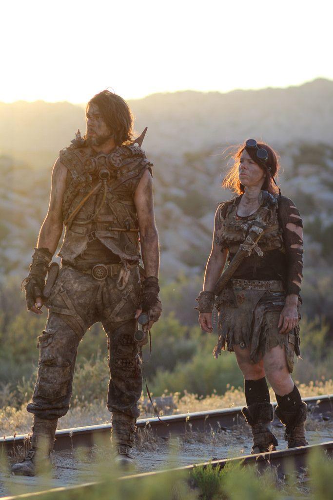 Post Apocalyptic couple. Homemade cosplay girl.