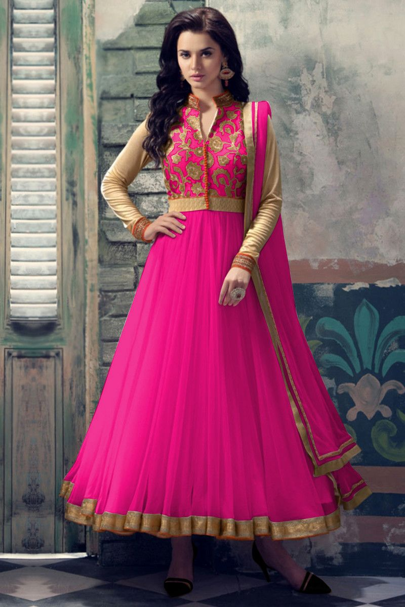 Dark Pink Color Net Salwar Kameez | Women\'s Ethnic Wear | Pinterest