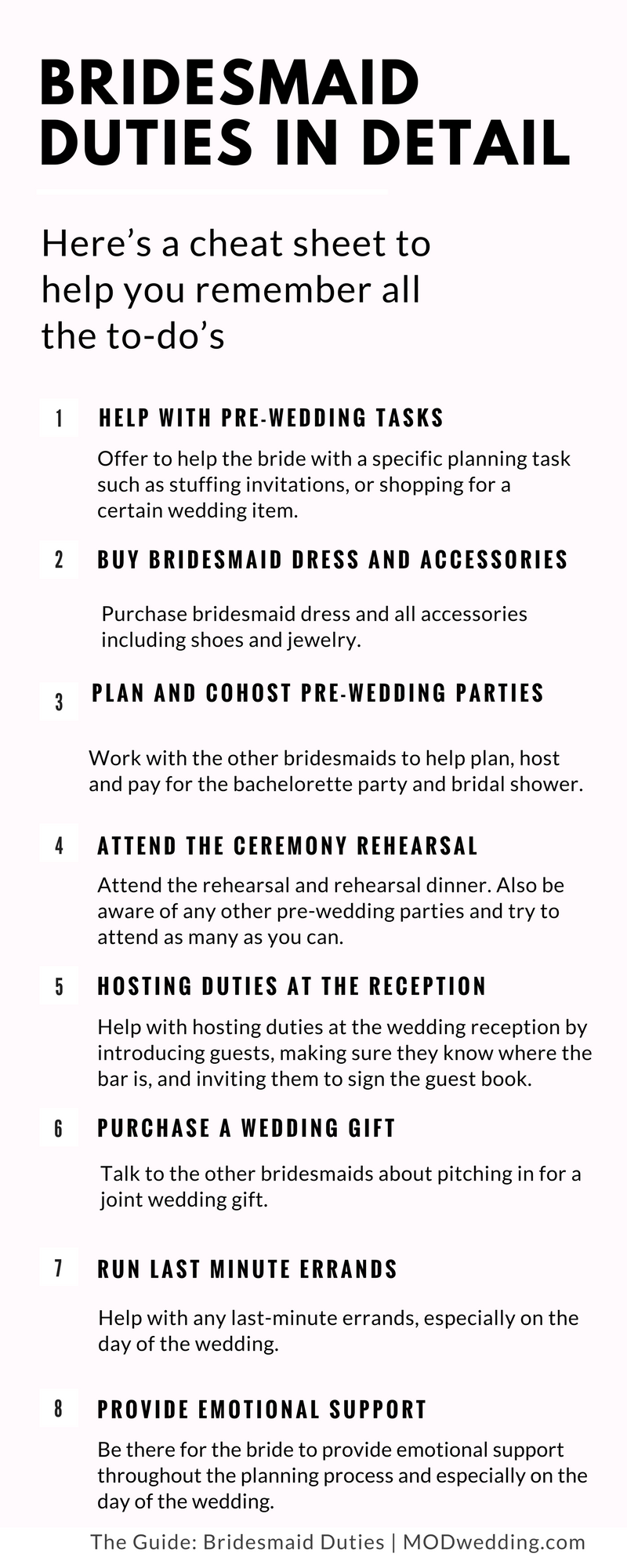 Bridesmaid Duties In Detail Here S A Cheat Sheet Of Your To Dos Click Read More Details