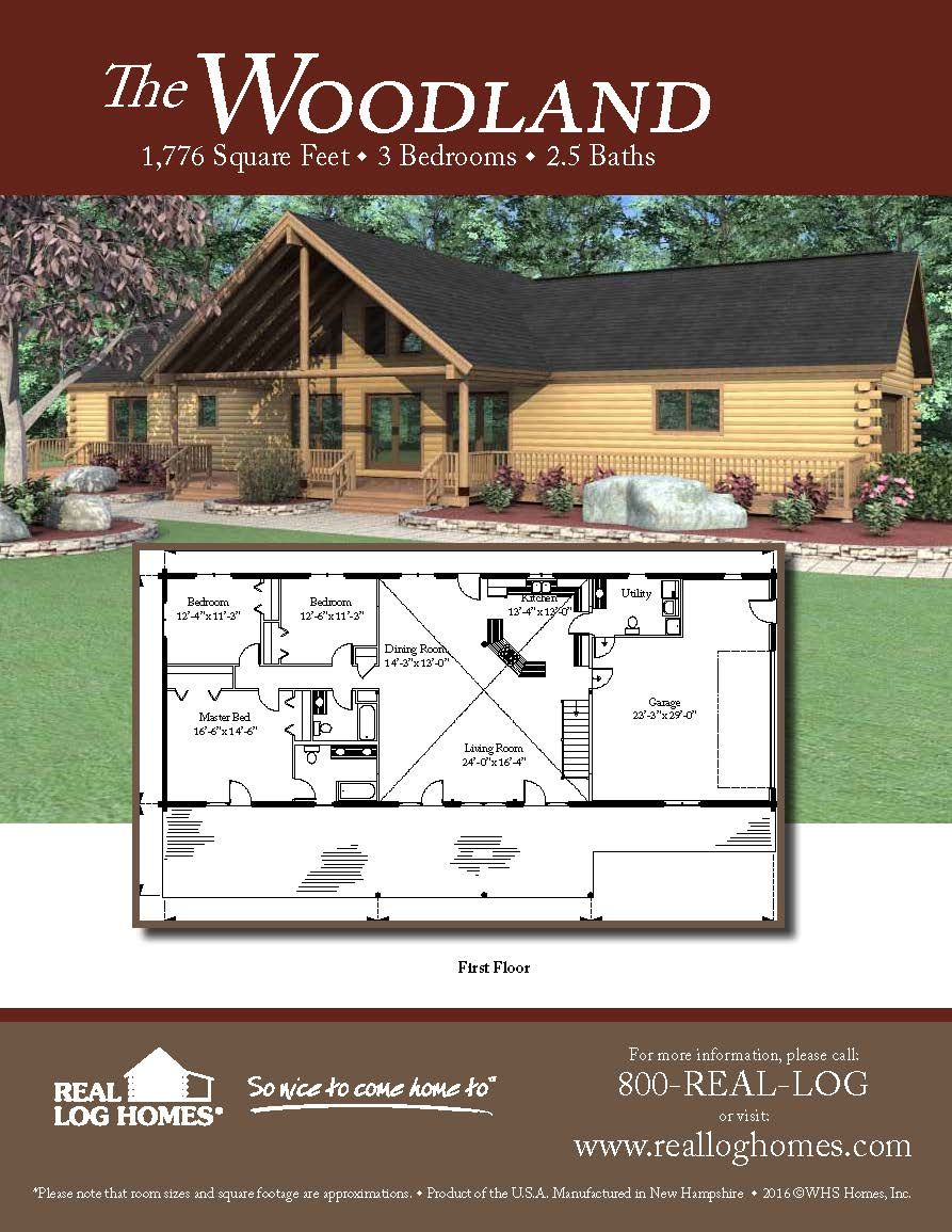 The Woodland Log Home Floor Plan Log Home Plans Cabin Floor Plans Cabin Plans