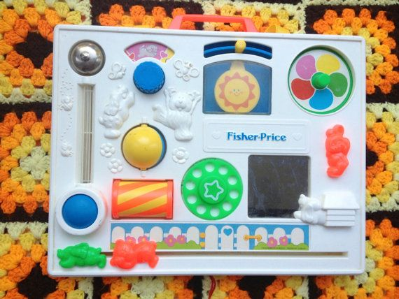 80s Fisher Price Baby Crib Toy By Lishyloo On Etsy 20 00