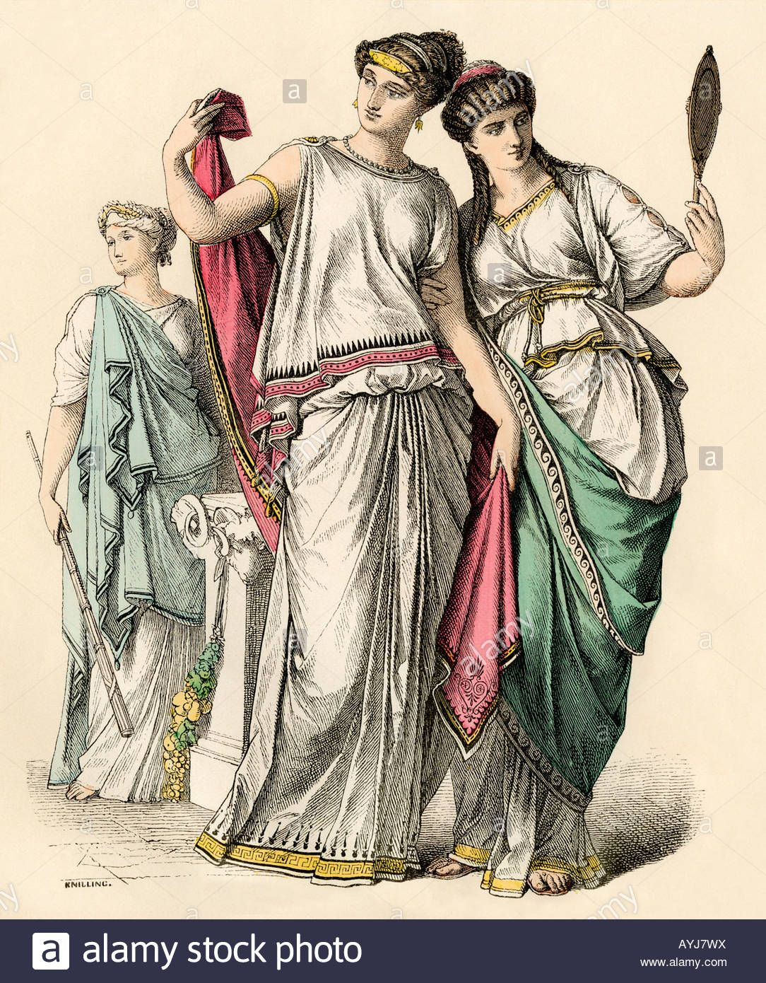 42a648bb978 Ancient Greek women and a priestess - Stock Image | xanadu in 2019 ...