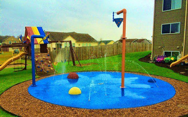 Fun Backyard Ideas For Kids find this pin and more on landscaping ideas backyard Splash Pad Backyard Water Park Ideas Kids Activities
