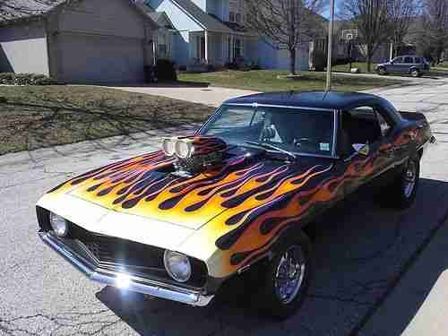 Classic Cars With Flames Custom Painted Blower Car Us