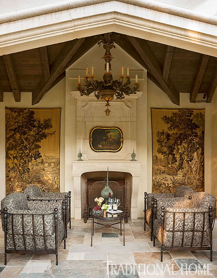 The fireplace pavilion—gorgeous anytime of year—is ideal for quiet conversation. - Photo: John Granen
