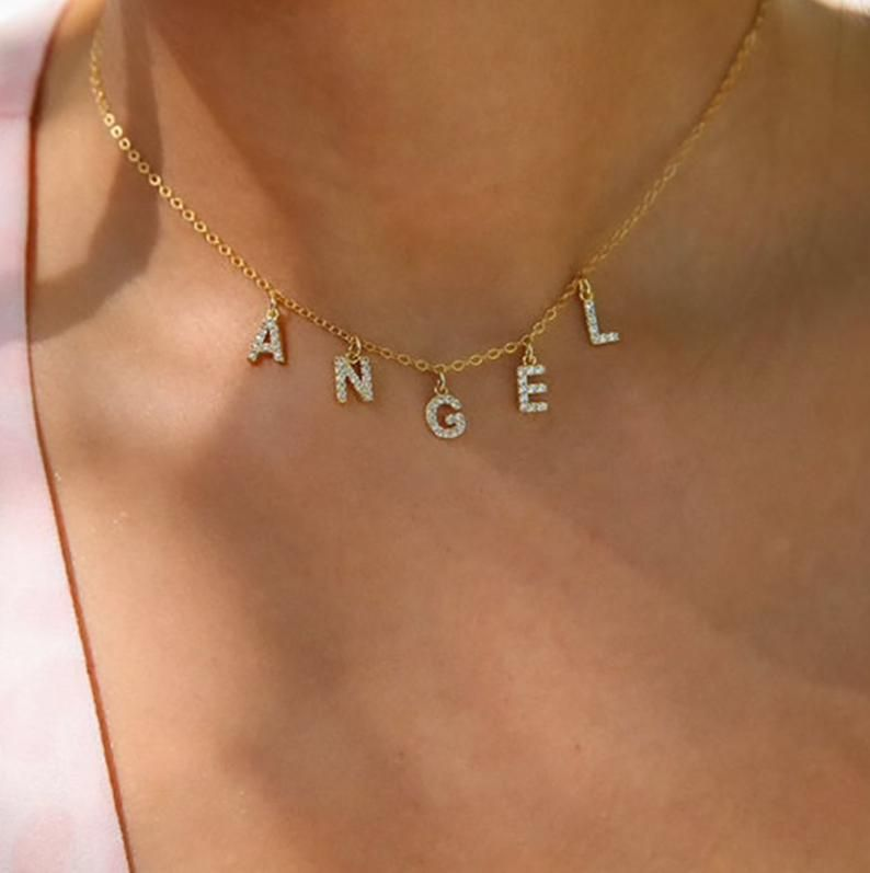 Cross necklace-Handcrafted Customize Name Necklace-Personalized Name Jewelry in Brass-Personal gifts-Custom gifts