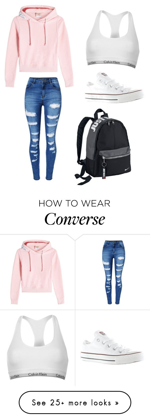 3648a2b6866 nike shoes Sans titre #452 by stylesforstars on Polyvore featuring Vetements,  Calvin Klein, Converse, WithChic and NIKE